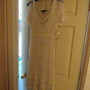 Fever Dress in White Size M NWT
